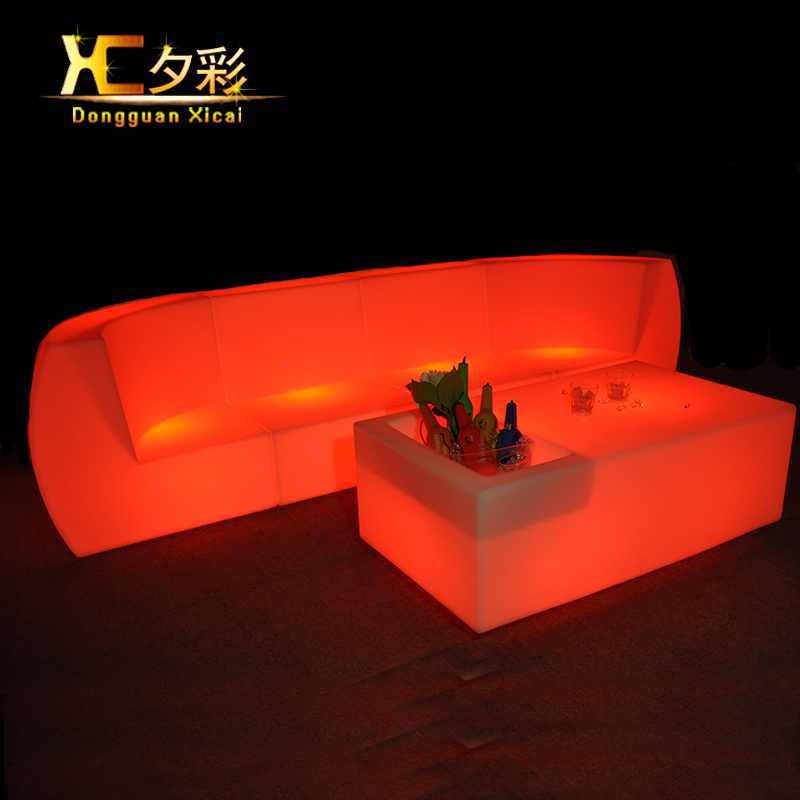 Led Living Room Furniture Luminous Bar Couch Color Changing Sectional Sofa Plastic Club Drinking Stool Back Rest Chair led luminous bar table plastic color changing coffee dining room garden drinking tables