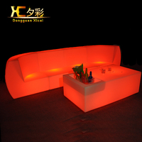 Led Living Room Furniture Luminous Bar Couch Color Changing Sectional Sofa Plastic Club Drinking Stool Back