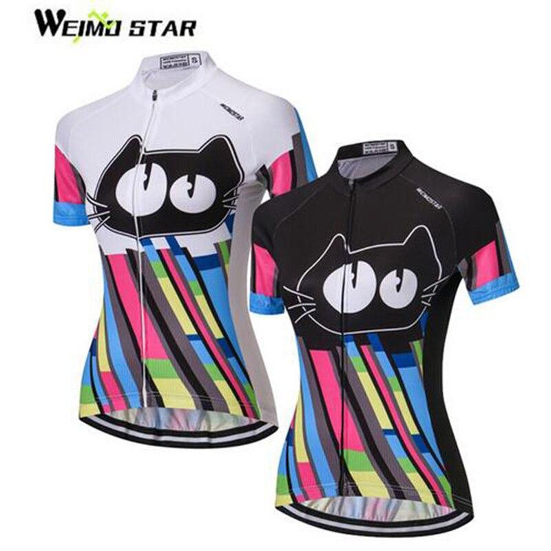 Weimostar Flowers Women Short Sleeve Shirt Cycling Jersey Bike Bicycle Jacket