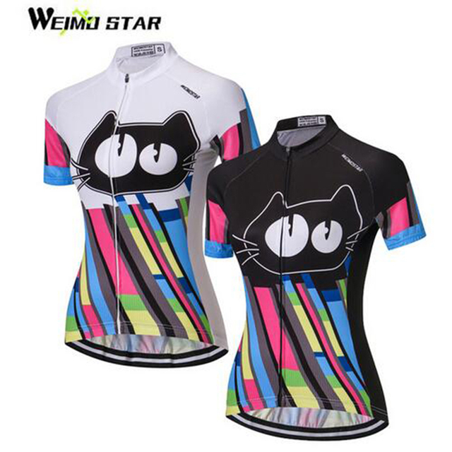 2cb0647d3 WEIMOSTAR Cycling Jersey Women Short Sleeve 2017 Cat Girls Bike MTB bicycle  Clothes Lady Jacket Road