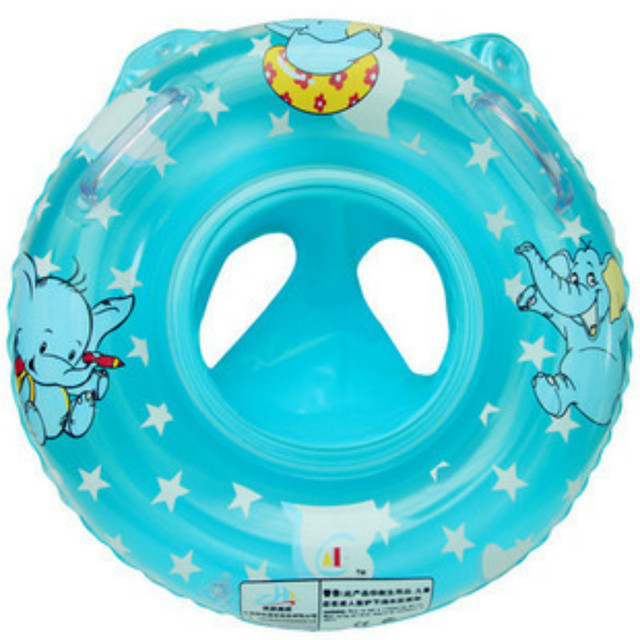 ABC Infant Swim Ring Baby Sit Ring Seat Ring Double Handle Thicker ...