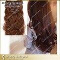 Duplo trama de alta qualidade brasileiro virgem grampo de cabelo em extensões de cabelo humano 100 g