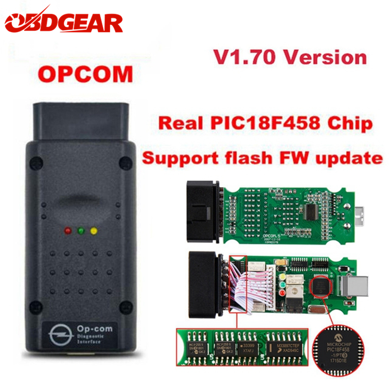 2018 OBD2 OP-COM V1.70 OPCOM for Opel Car Diagnostic Scanner with Real PIC18f458 for Opel OP COM Diagnostic Tool Flash Firmware цена