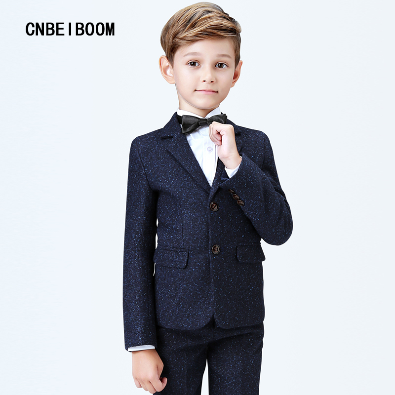 5pcs/set Boys Suits Wedding Clothing Sets Blue Formal Blazers Boy Prom Blazer Jackets Clothes Set Costume Dress high quality school uniform new fashion baby boys kids blazers boy suit for weddings prom formal gray dress wedding boy suits