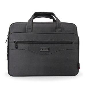 Oyixinger الرجال حقيبة كمبيوتر محمول أكياس جيدة النايلون القماش متعددة الوظائف للماء حقائب شهم الأعمال الكتف حزمة العمل