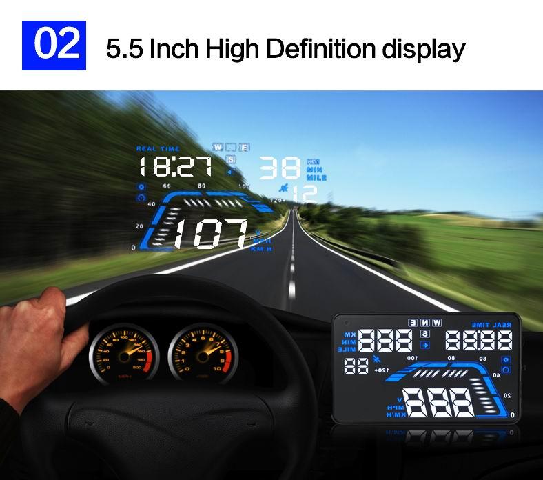 multifunction 5 5 hud head up display for toyota camry mark x rh aliexpress com 2008 Corvette HUD 2002 Chevrolet ZO6 Corvette HUD