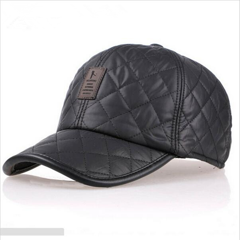 цена на VORON High quality baseball cap men autumn winter Fashion Caps waterproof fabric Hats Thick warm earmuffs baseball cap 4 colors