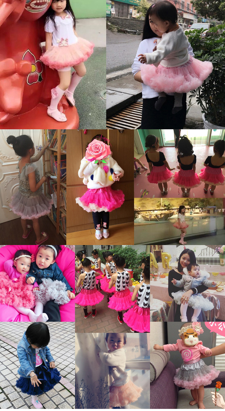 0-24 Months Baby Girls Tutu Skirt Fluffy Children Ballet Kids Pettiskirt Baby Girl Skirts Princess Tulle Party Dance Skirts