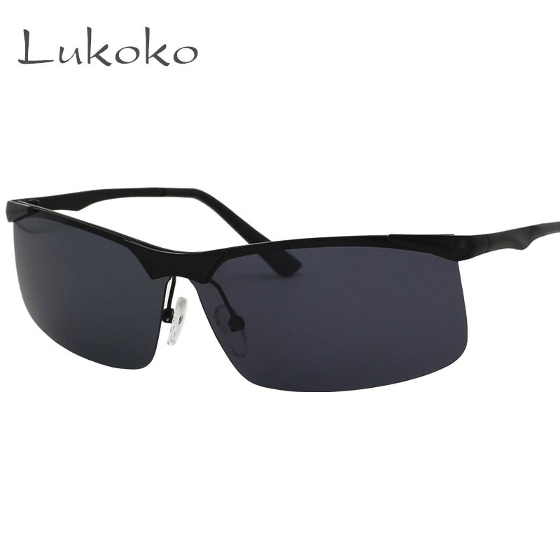Lukoko brand designer rimless sunglasses men polarized for Fishing sunglasses brands