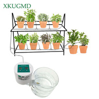 2018 Intelligent Control Garden Automatic Watering Device Balcony Succulents Plant Drip Irrigation Tool Water Pump Timer System