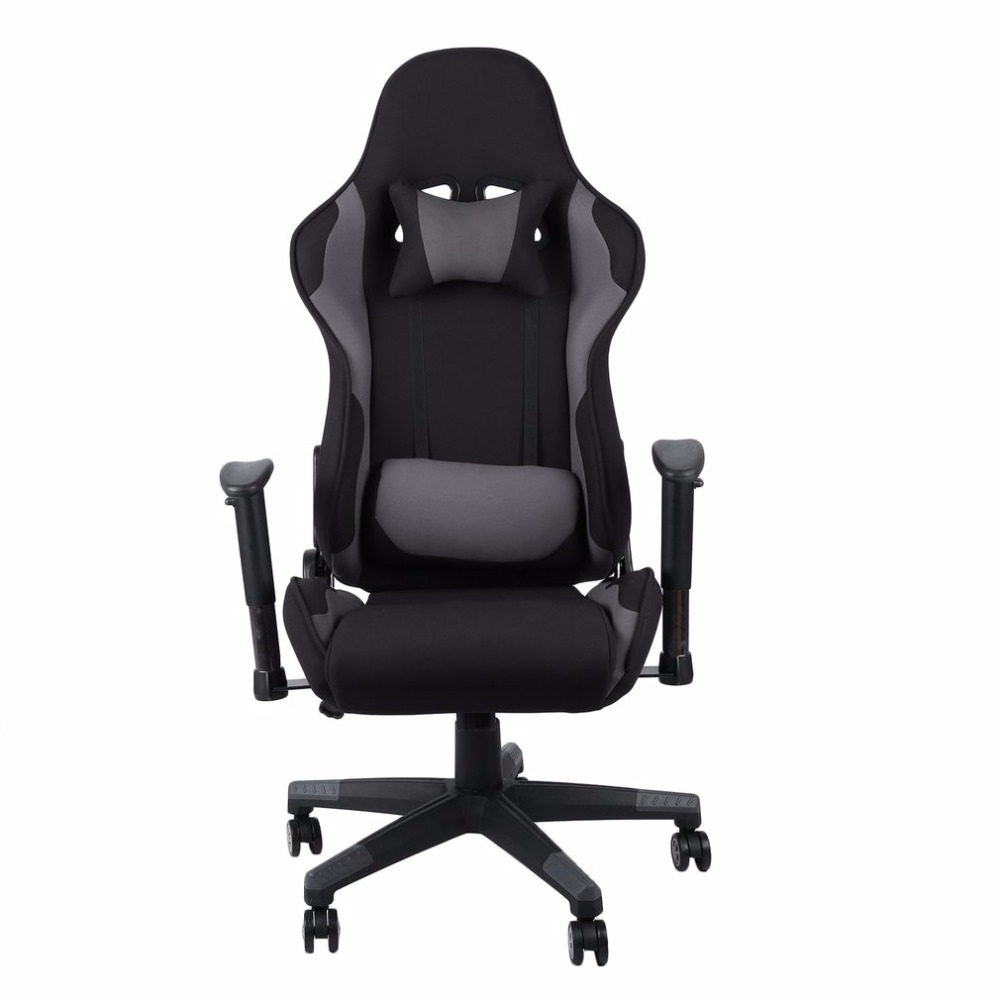 все цены на Ergonomic High Back Racing Chair Adjustable Fabric Executive Computer Chair Revolving Home Office Furniture онлайн