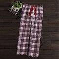 2017 Nueva Primavera Mujer Marca homewear Mujeres A Cuadros Informal ropa de dormir de Las Señoras inferiores encuadre de cuerpo entero pantalones camisón Femenino de algodón pantalones