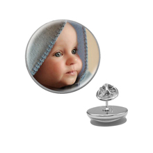 Cute Tiny Round Shaped Customized Metal Brooch