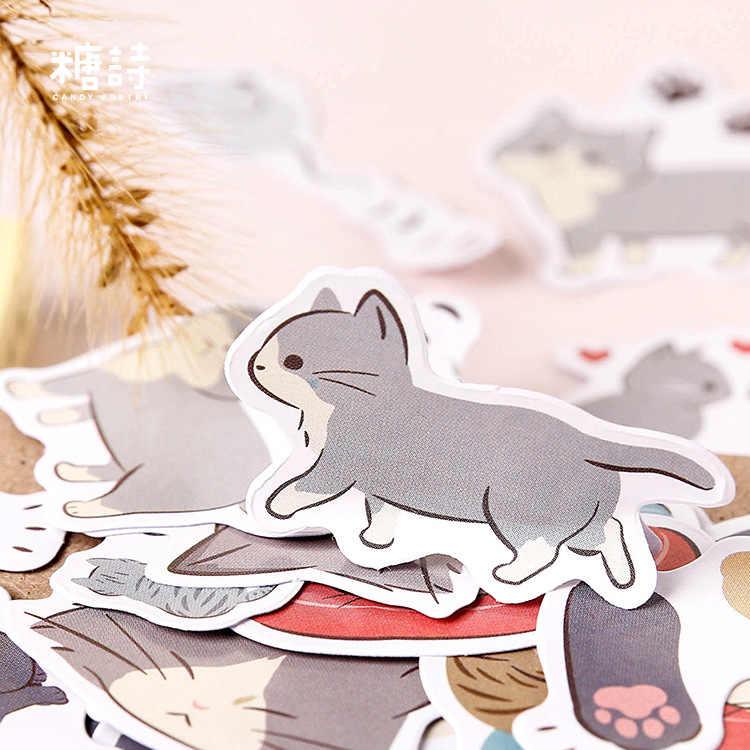 LOLEDE חדש 45 יח'\סט חמוד חתלתול מכתבים מדבקות דקורטיבי מדבקות דבק מדבקות DIY קישוט יומן ילדי מתנה