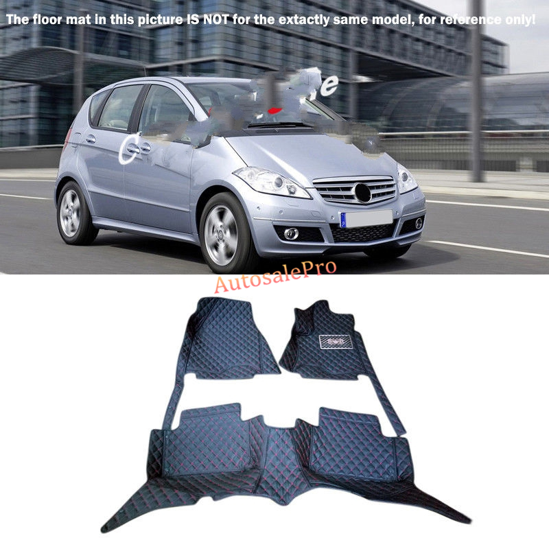 Right & Left Hand Drive Black Front Rear Floor Mat Carpets Pad cover For Mercedes Benz A Class W169 2009 2010 2011 for mercedes benz c class w204 2008 2009 2010 2011 2012 2013 right left hand drive black front rear floor mat carpets pad cover