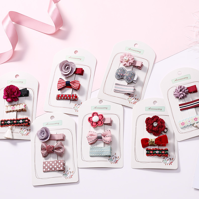 New 3PCS/Lot Fashion Flower Bow Cartoon Rabbit Hairpins Cute Girls Hair Clips   Headwear   Barrettes Headbands Kids Hair Accessories
