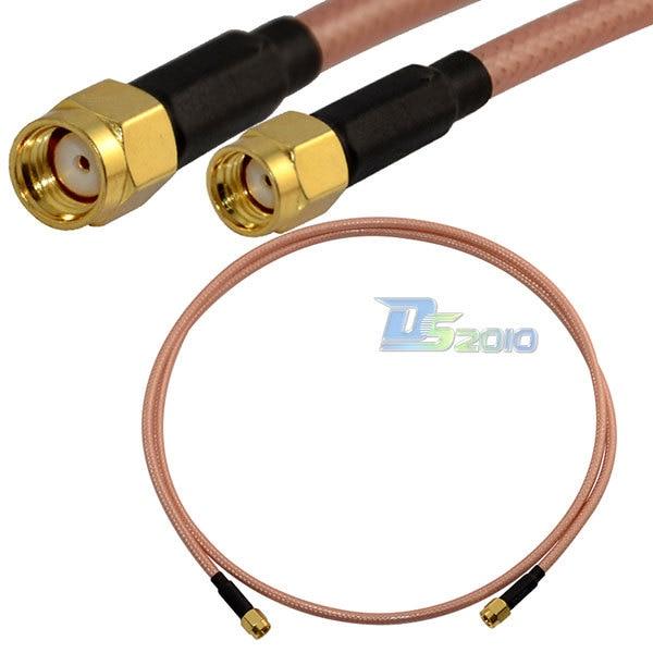 High Quality3ft/1m RP SMA Male Plug to RP-SMA Male Plug Straight RF Coax RG142 Pigtail Cable grohe смеситель