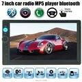 7 дюймов Автомобиля Bluetooth MP4 Mp5-плеер HD Сенсорный Экран Handsfree TFT Автомобилей Аудио Видео FM USB TF AUX IN 2 DIN размер