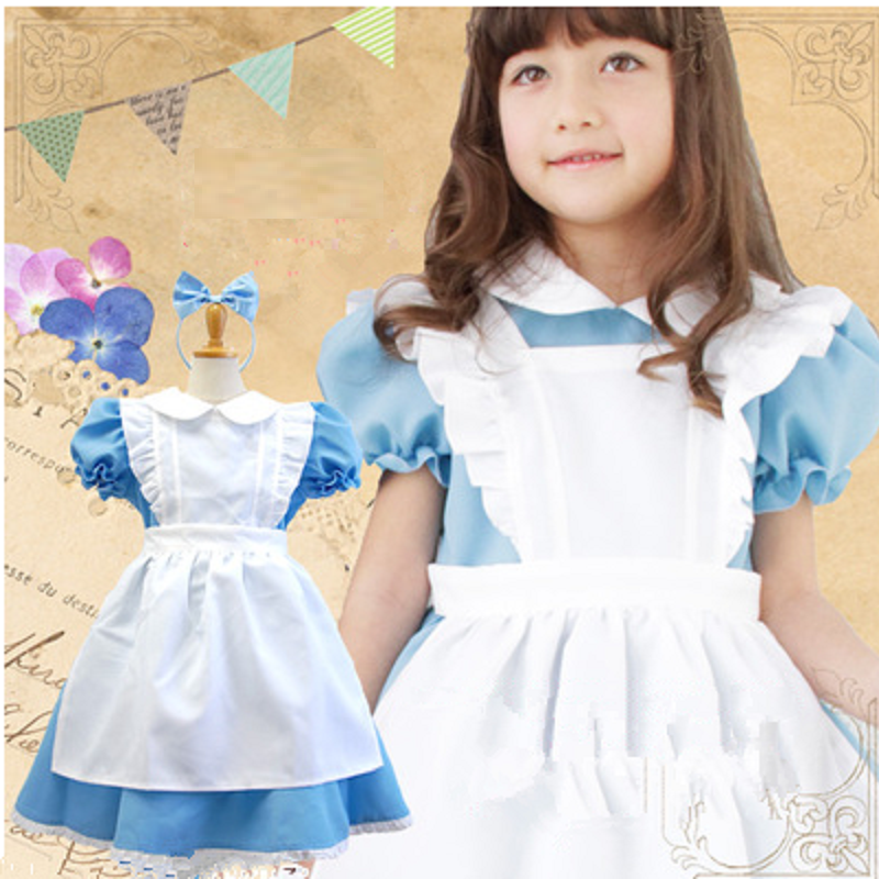 Alice In Wonderland Costume For Kids Dress Girls Lolita Dress Maid Costume Cosplay Lolita Fantasia Carnival Halloween Costumes Costumes & Accessories Girls Costumes