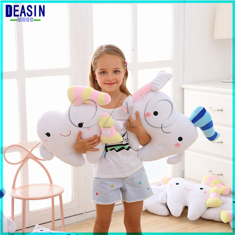3 pcs Big tooth pillow Creative fashion cartoon pillow cushions appease accompany sleep doll dental gift teeth shape bolster