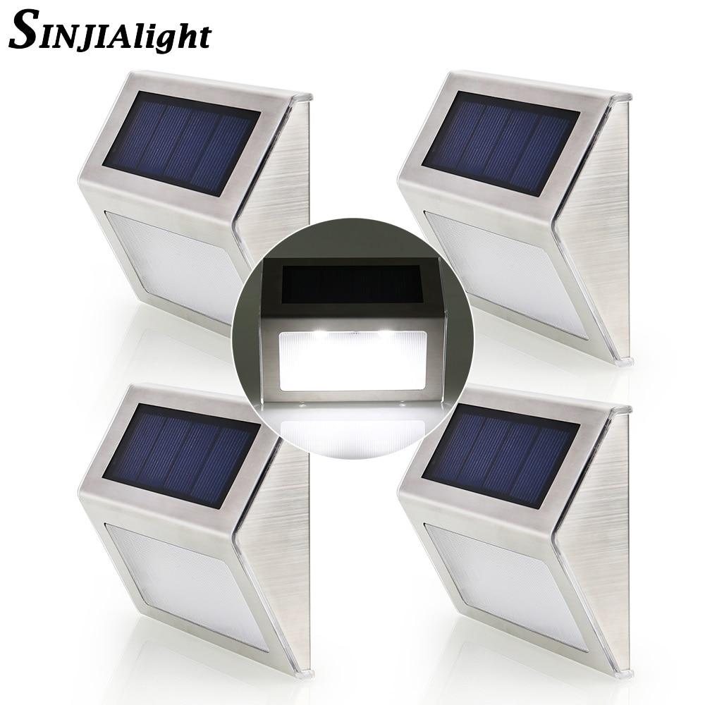 4 stücke 2 stücke LED Solar Lampe Wasserdichte IP65 Solar Licht LED ...