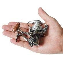 MN100 полностью металлический корпус спиннингом Рыбная ловля льда катушка плот приманка колеса мини Малый барабан