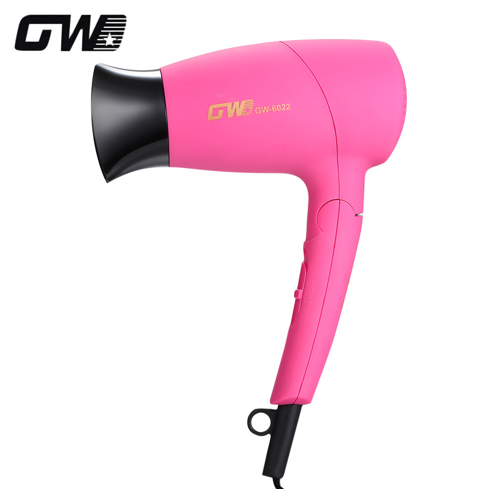 Guowei GW-6022 Electric Mini Hair Dryer Foldable Handle Professional Blow Dryer Hairdryer 220-240V Hair styling Tool machine