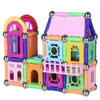 218pcs Magnetic Designer Construction Set Magnet Sticks Metal Balls Magnetic Constructor Toys for Children Gifts
