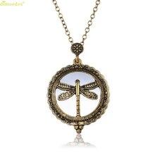 HOT Brand Magnifier Pendant Necklace Magnify Glass Reeding Decorativ Monocle Necklace