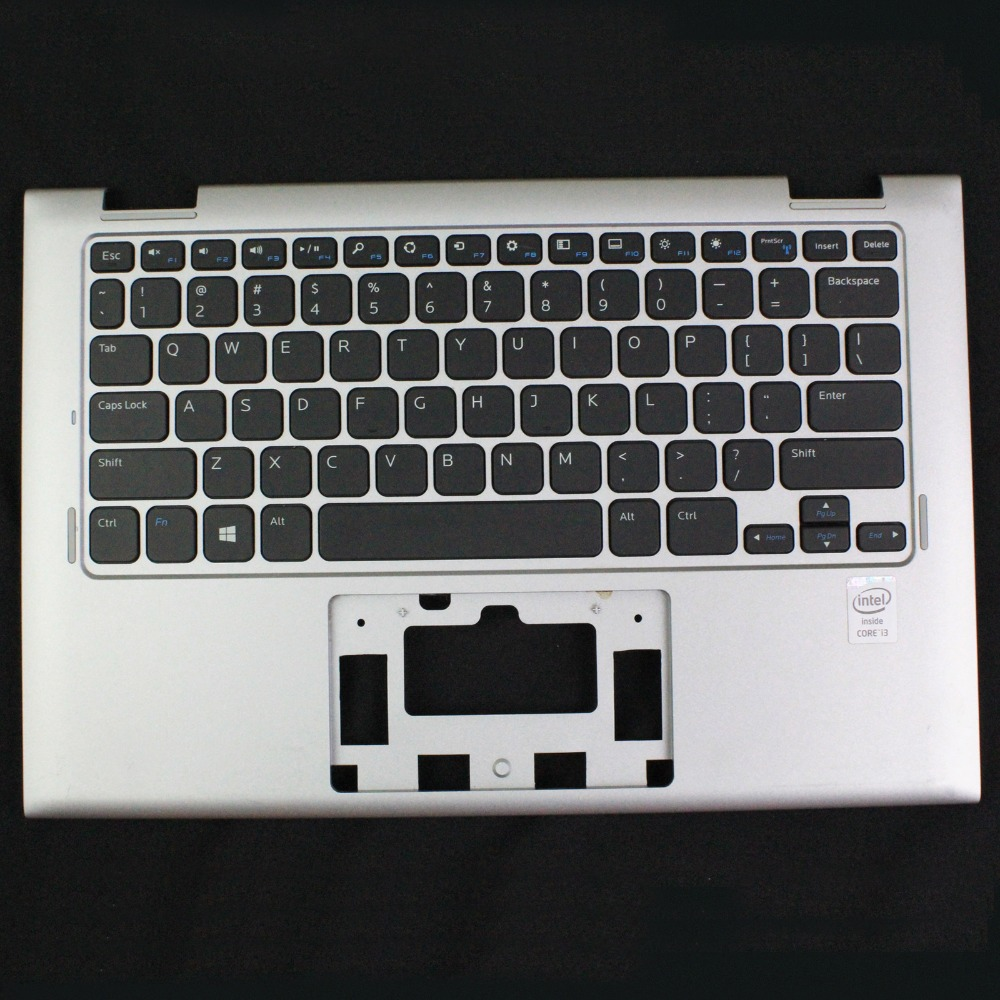 GENUINE For DELL INSPIRON 11 3147 3148 Laptop PALMREST W/ KEYBOARD 7W4K6 Silver