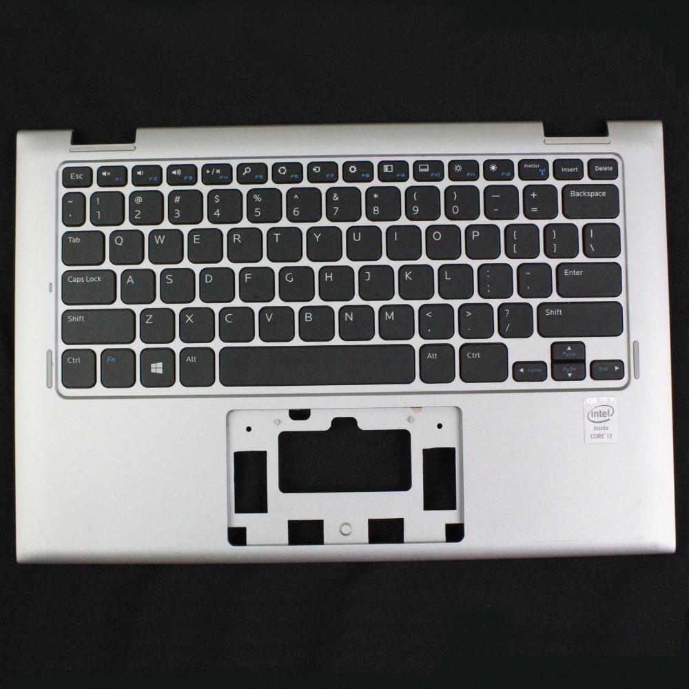 GENUINE For DELL INSPIRON 11 3147 3148 Laptop PALMREST W/ KEYBOARD 7W4K6 Silver