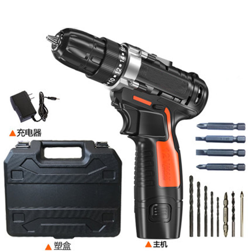 Electric Screwdriver Cordless Drill Mini Wireless Power Driver 12V 16.8V 25V DC Lithium-Ion Battery desoon de12dc 12v max electric screwdriver cordless drill mini wireless power driver dc lithium ion battery 3 8 inch 2 speed