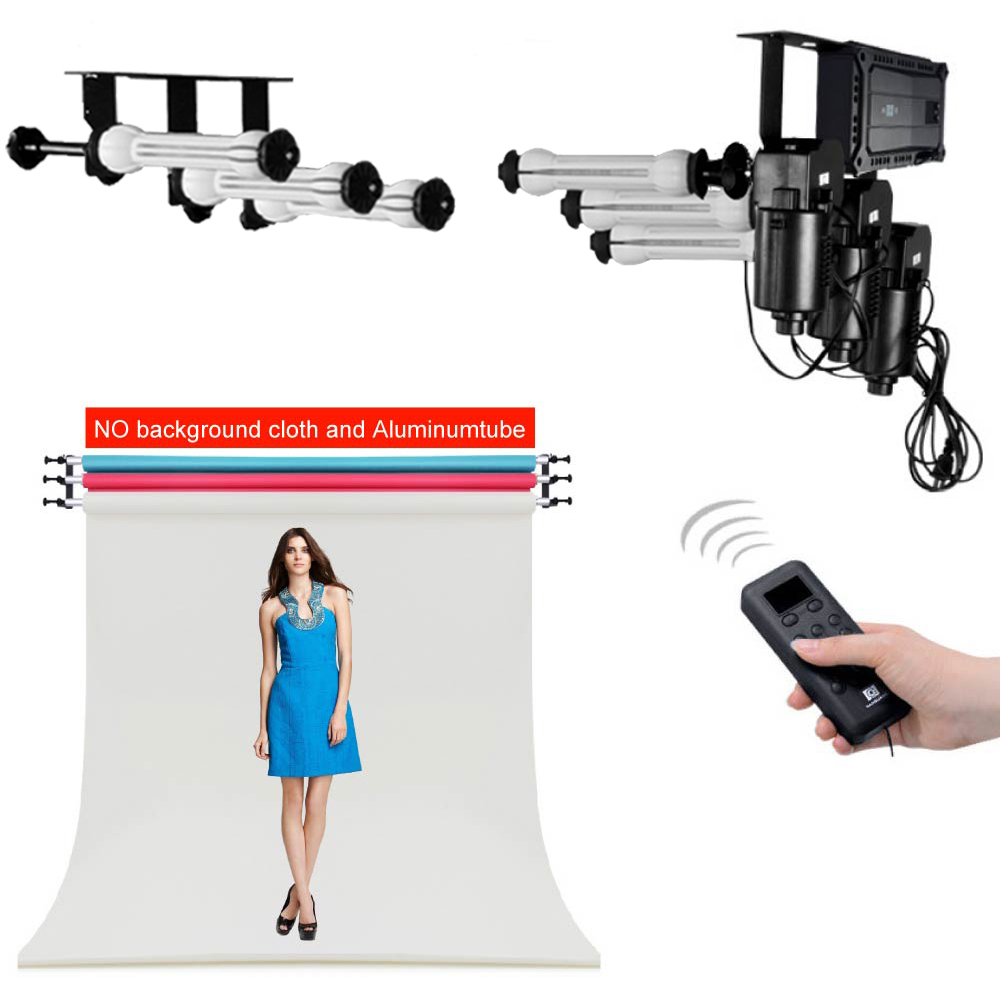 Photo Ptudio Equipment 3 Roller Wall / Ceiling Mount Motorized Electric Background Backdrop Photography Support System huayi 10x20ft wood letter wall backdrop wood floor vinyl wedding photography backdrops photo props background woods xt 6396
