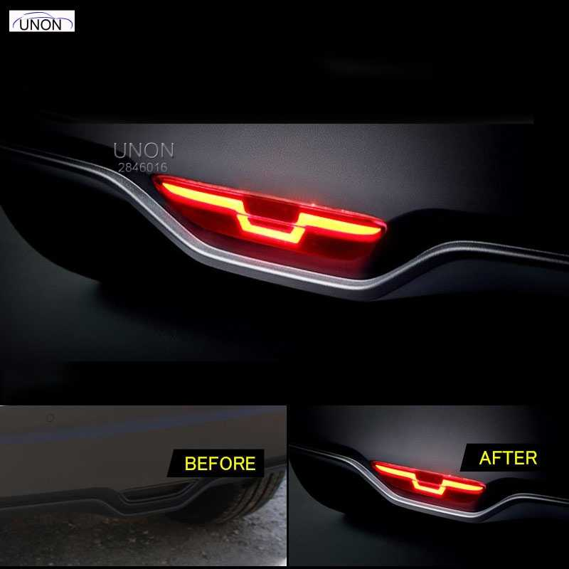 HOTTOP led rear bumper light for toyota chr 2017-18, driving lamp + brake light + reverse light 3 functions warning light