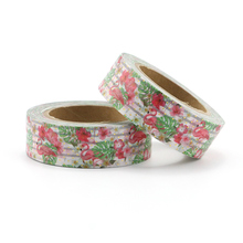 1PCS red floral and beautiful swan Decorative Masking Washi Tape DIY Diary Scrapbooking