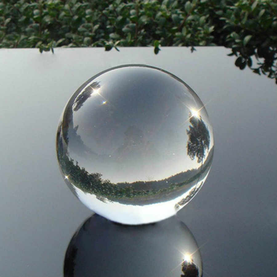 """2018 החדש חם 40 מ""""מ ברור קריסטל קסם כדור אסיה טבעי קוורץ צלול ריפוי המצוטט כדור כדור"""