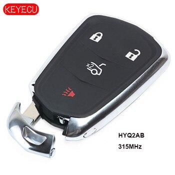 Keyecu חכם מרחוק מפתח 315 mhz 4 כפתור החלפה עבור קדילאק XTS CTS ATS 2014-2018 FCC: HYQ2AB