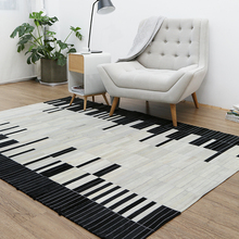 Genuine Cowhide Leather Patchwork Rug For Living Room Bedroom Extra Large Is 200*300cm For 100% Natural Cowhide Carpet KM03