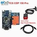 Недавно Многофункциональный TCS CDP Pro С Программным Обеспечением 2014 R2/2014 R4 или 5.00.8 Для Автомобилей Грузовых OBD2 Сканер TCS CDP Бесплатная Доставка