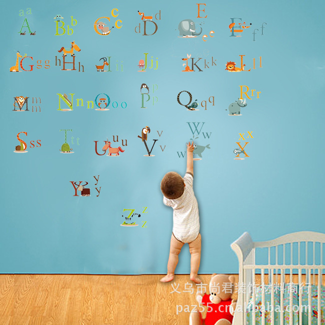 Diy Alphabet Pattern Wall Stickers Home Decor Kids Nursery Baby Children Room Decals Decorations Vinyl Decal Art In From