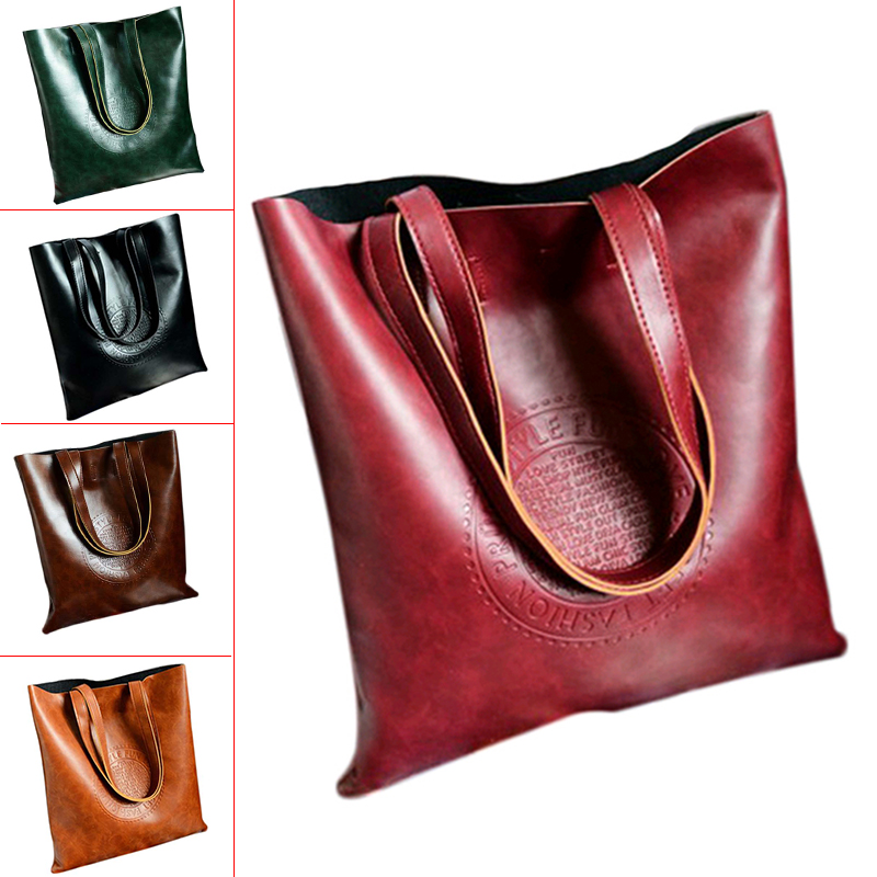 Vintage Women Tote Arrival Shoulder bags PU Leather Lady's Scrub Handbag Messenger bag Shopping Crossbody Bags(Wine Red) стоимость