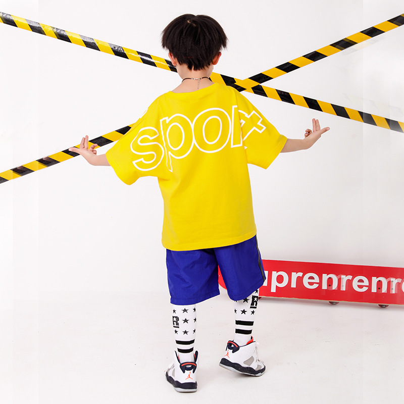 Children 39 s street dance costumes boys hip hop suits summer girls jazz costumes children 39 s sportswear in Matching Family Outfits from Mother amp Kids