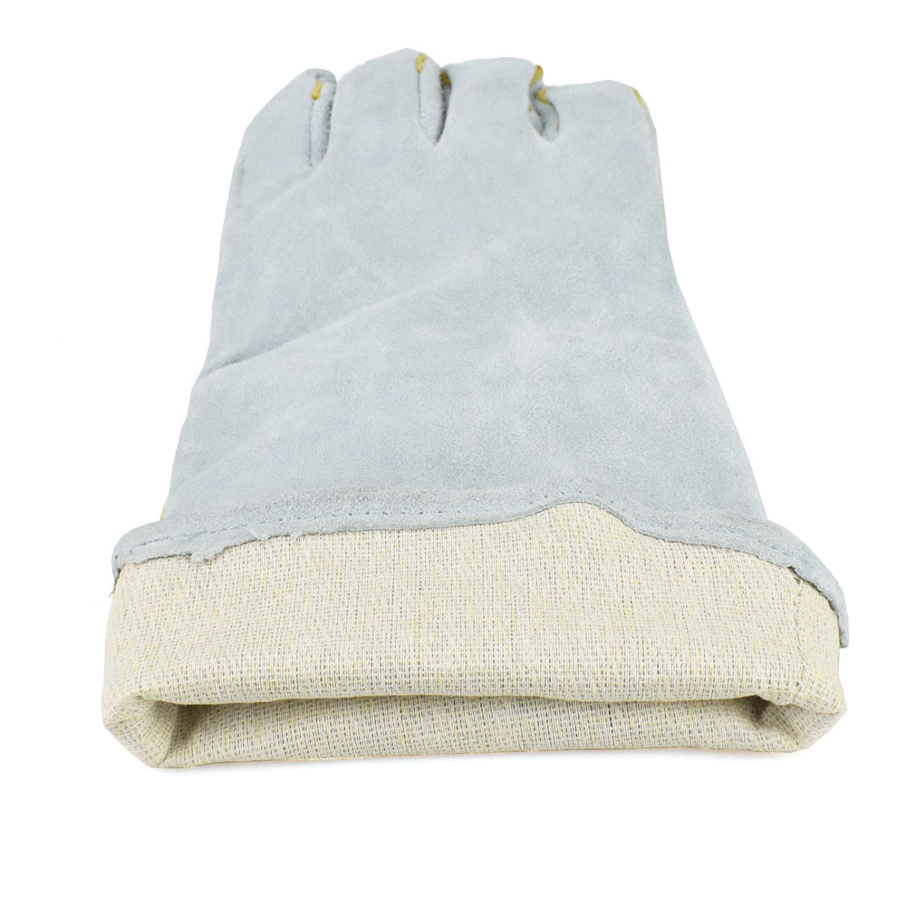 NEWACALOX Schweißen Schutz Handschuhe Rindsleder Wärme Beständig Sicherheit Handschuhe Verdickung Gartenarbeit Holz Herd Anti Tragen Arbeit Handschuhe
