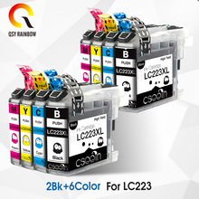 8 pcs LC223 ink cartridge LC 223 LC223XL For Brother DCP-J562DW DCP-J4120DW MFC-J480DW MFC-J680DW MFC-J880DW MFC-J4620DW 1set full ink for brother lc221 lc 221 231xl ink cartridge for brother dcp j562dw mfc j480dw mfc j680dw mfc j880dw