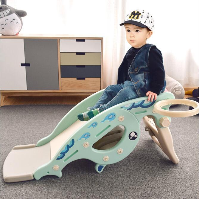 Nouveau bébé videur cheval à bascule toboggan double usage 3 en 1 jouet pour enfants bébé toboggan virole multi-fonction jouets pour enfants en plein air - 3
