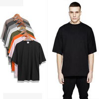 High Street Oversized T Shirt Men S XXL 2017 Summer Fashion Plain Half Sleeve Homme Tees