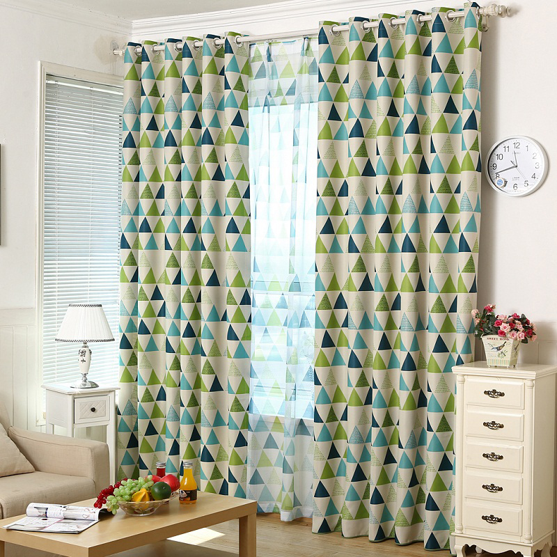 Blackout Curtains Modern Drapery Curtain Window Screening Sheer Finished Products Decorating Curtain