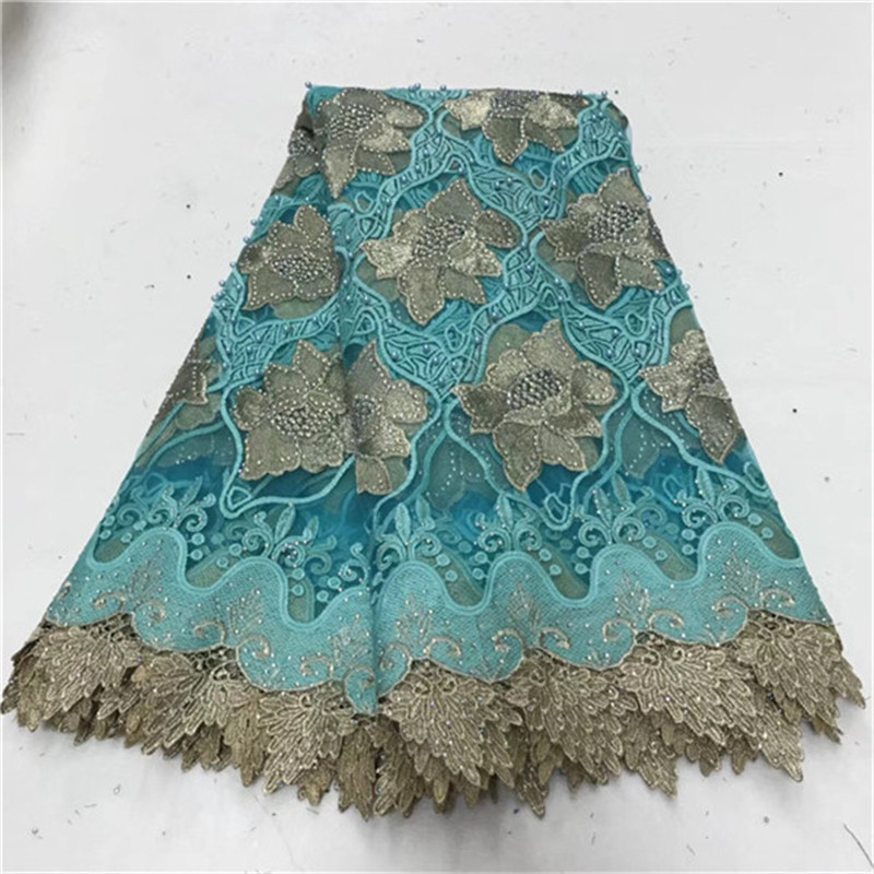 African Lace Fabric 2018 New Design African Swiss Voile Lace Fabric High Quality With Stones French