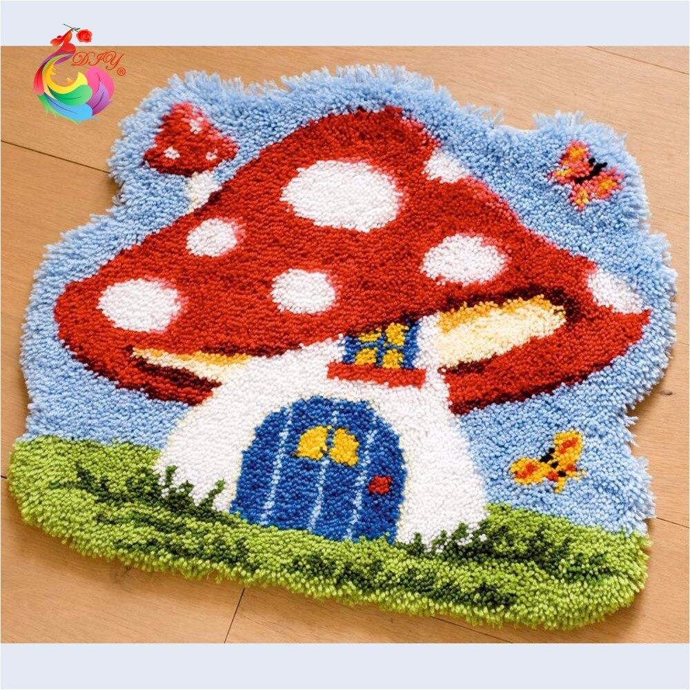 Bordado de alfombras Punto de cruz Latch hook kits de alfombra agujas - Artes, artesanía y costura
