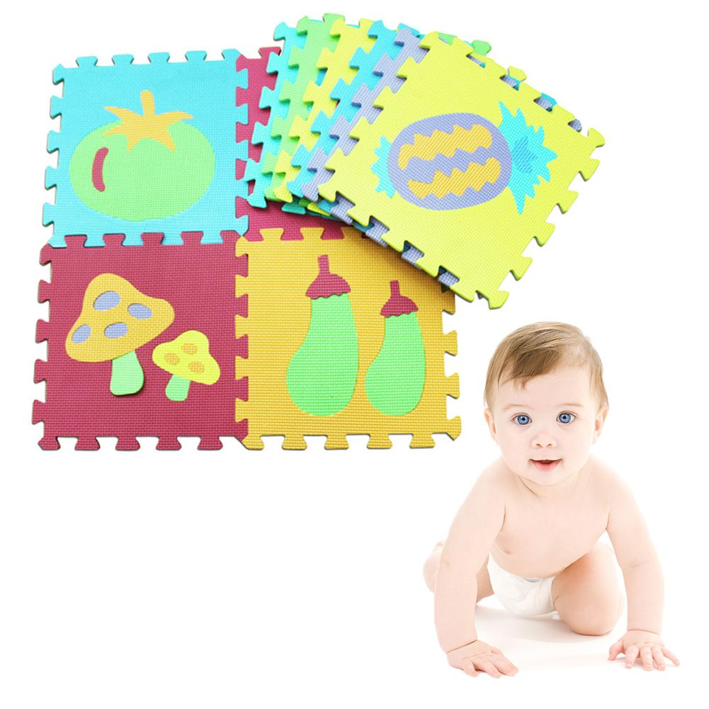 Baby Gyms & Playmats Activity & Gear 10 Pcs Eva Puzzle Mat Pattern Foam Playmat 30*30cm Environmentally Animal Fruit Car Crawling Mat Rug Early Education